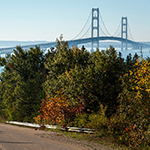the mackinac bridge in northern michigan
