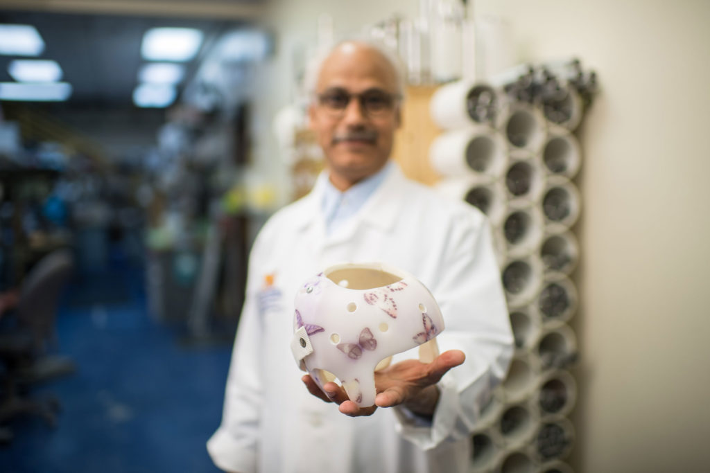 Ammanath Peethambaran, the University of Michigan orthotist who developed the cranial helmet to treat plagiocephaly