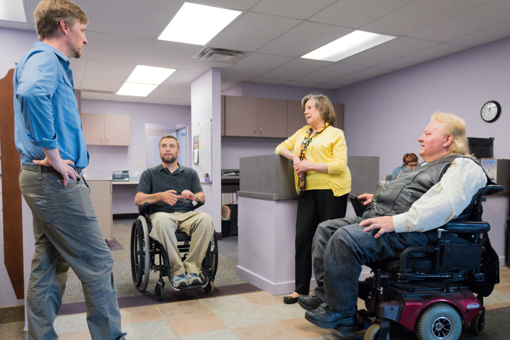 Scott TenBrink meets with DisAbility Connections staff