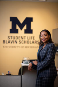 University of Michigan Blavin Scholars program director Miriam Connolly