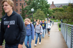 The Cook Family Foundation sponsors tours of the University of Michigan campus for Shiawassee students