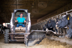 Fourth-generation dairy farmer Bruce Breuninger, who suffers from hearing loss
