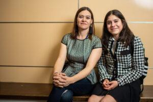 Wolverine Pathways student Esmeralda and her mother, Maria Elena Hermosillo