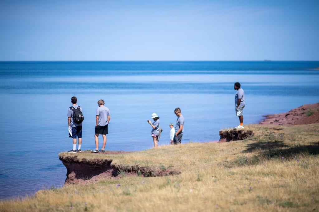 The University of Michigan's Earth Camp included a summer field experience at Lake Superior