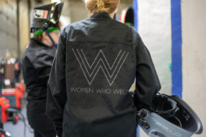 U-M alumna Samantha Farrugia founded Women Who Weld to provide welding training for unemployed and underemployed women.