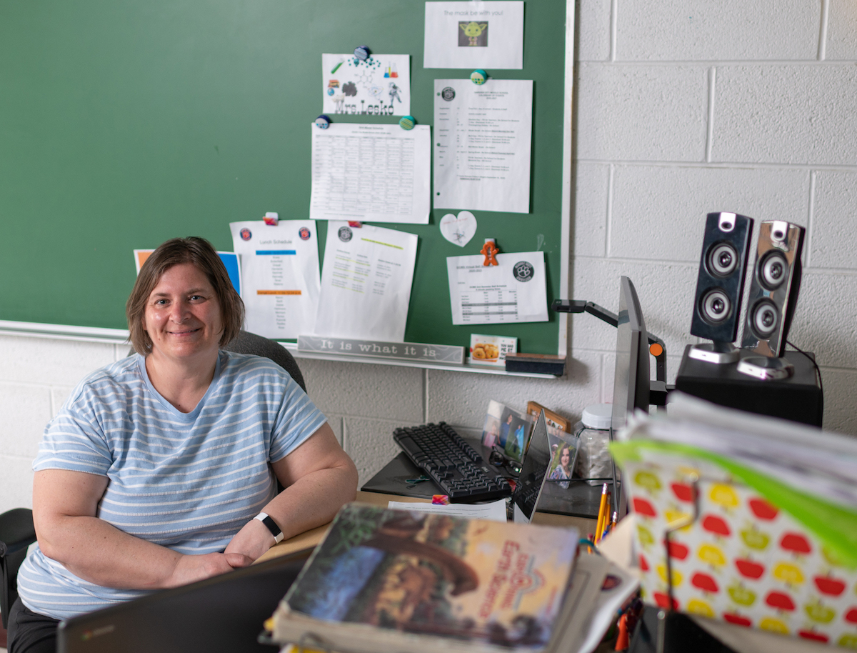 Shelley Lesko, a science teacher at Garden City Middle School, worked with the University of Michigan Museum of Natural History to determine which experiments would be most useful to her students