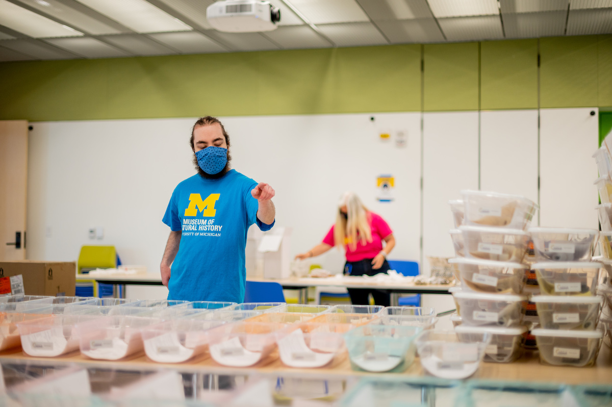 The University of Michigan team assembled 1,575 science kits for use at three schools