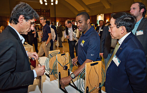 Community leaders gathered at the Michigan League Ballroom to recognize the accomplishments of U-M faculty and researchers at the University's 17th Annual Celebrate Invention reception.
