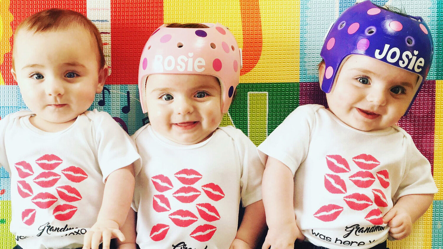 Three Babies Two Helmets One Success Story For Gaylord Triplets